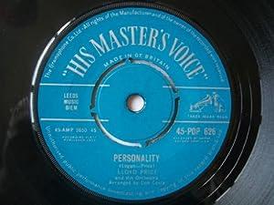 "Personality - Lloyd Price 7"" 45"