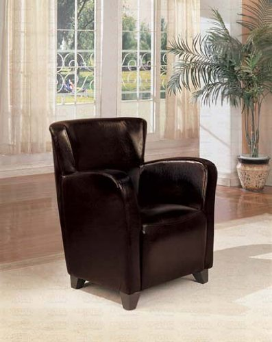 Accent Arm Chair Espresso Leather By Coaster Furniture