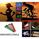 BEST LED GLOWING SLAP BAND For ARM,WRIST & ANKLE WITH BATTERY-SWEAT RESISTANT-EASY TO CLEAN-HIGHLY REFLECTIVE-SAFETY...