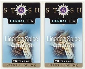 Stash Tea Spicy Licorice Tea, 20 ct, 2 pk from KEHE - Romeoville, IL