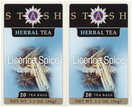 Stash Tea Spicy Licorice Tea, 20 Ct, 2 Pk