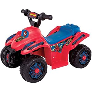 Spider man ride on quad motorcycle 6 volt battery powered ride on assorted colors - Quad spiderman ...