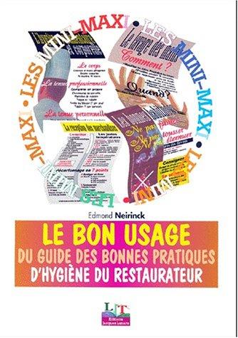 Livre guide des bonnes pratiques d'hygiène en restauration