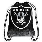 NFL Football Team Logo Drawstring Backpack Bag - Pick Team (Oakland Raiders)