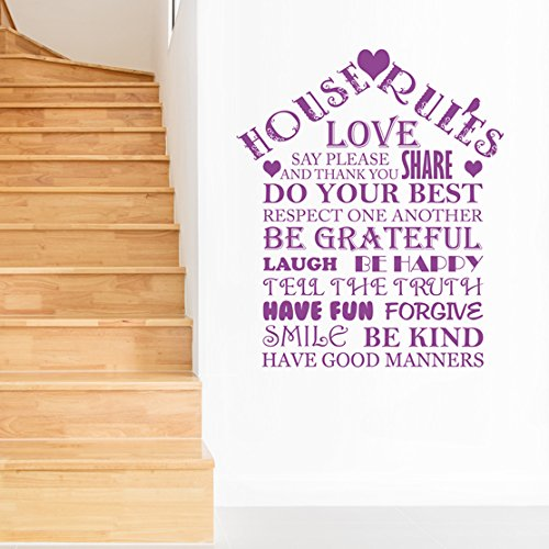 house-rules-family-quotes-love-words-wall-sticker-art-vinyl-decal-transfer-easy-to-apply-free-applic