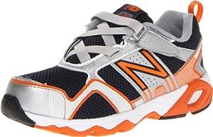 New Balance KV695 Running Shoe (Little Kid/Big Kid),Blue/Orange,5 W US Big Kid