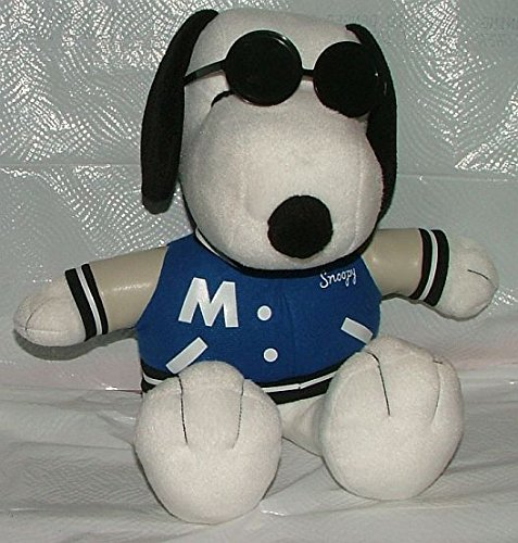 "Peanuts Snoopy 12""plush. Blue Coat with Met Life on Back. - 1"