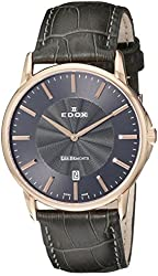 Edox Men's 56001 37R GIR Les Bemonts Analog Display Swiss Quartz Grey Watch