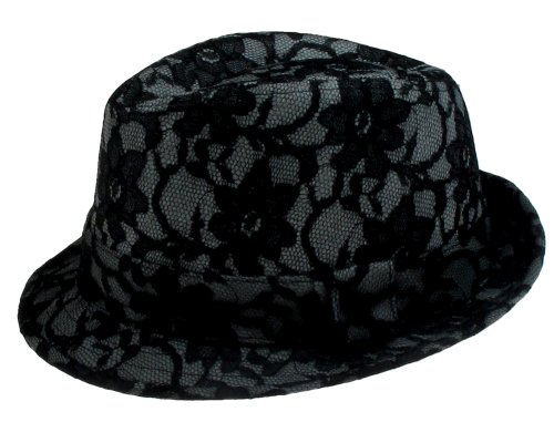 Capelli New York Lace Covered Trilby With Band