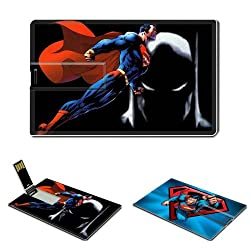 16GB USB Flash Drive USB 2.0 Memory Stick The Superman Credit Card Size Customized Support Services Ready Free Online Action Adventure Games Single Player Series Final Act Escalayer Manga Video Animation Flash Nes PC Game Boy Playstation Xbox