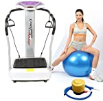 Upgraded 3000W Peak Power Silent Drive Motor 2014 Edition Now With Full 2 Year Uk Warranty - The Most Powerful Gym Master Crazy Fit Vibration Plate New Model Massive 99 Speed - Semi Commercial Use 150kg User Weight