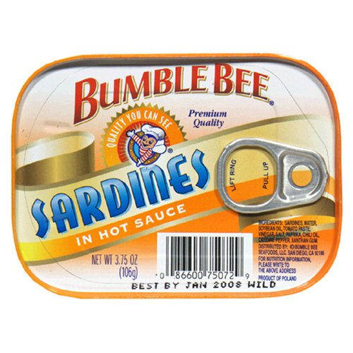 Bumble Bee Sardines in Hot Sauce, 3.75-Ounce