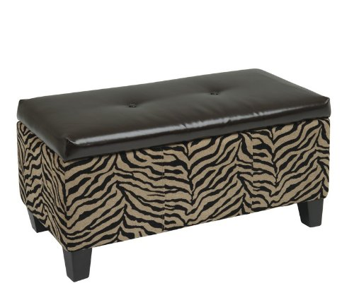 Zebra print bench safari bedding Leopard print bench
