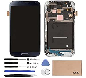 display touch screen amoled digitizer assembly with frame for samsung galaxy s4. Black Bedroom Furniture Sets. Home Design Ideas