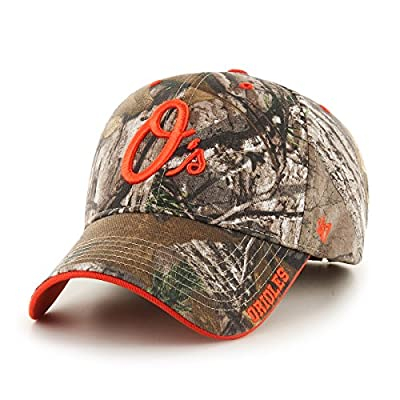 MLB Baltimore Orioles Realtree Frost '47 MVP Adjustable Hat, Realtree Camouflage, One Size,Realtree Camouflage