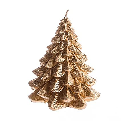 Small Gold Christmas Tree Candle by Jay Imports