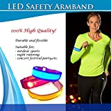 LED Sports Armband Flashing Safety Light for Running, Cycling or Walking At Night Set of 2
