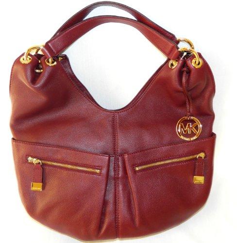 Michael Kors Layton Large Shoulder Tote Genuine Leather Handbag