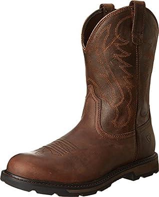 Ariat Men's Groundbreaker Slip Resistant Work Steel Toe Boot,Brown/Brown,7 M US