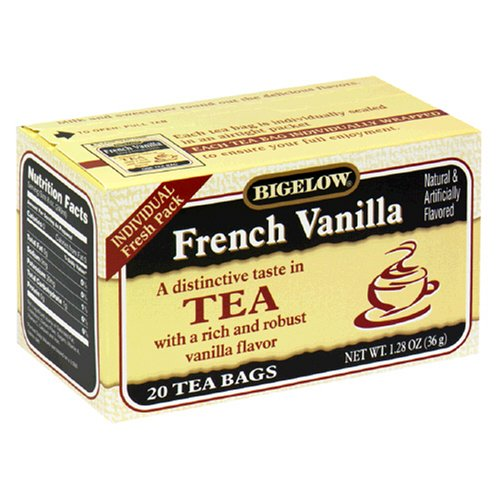 Buy Bigelow French Vanilla Tea, Tea Bags, 20-Count Boxes (Pack of 12) (Bigelow, Health & Personal Care, Products, Food & Snacks, Beverages, Tea, Black Teas)