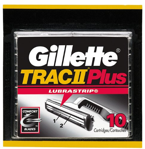 Gillette Trac II Plus Shaving Cartridges 10ーCount