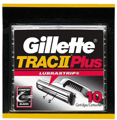 Gillette TRAC II Plus Refill Cartridges - 10 ct (Gillette Trac Ii compare prices)
