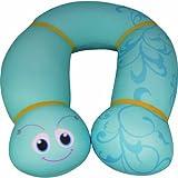 Culto 12019 Lisa - Almohadilla infantil para el cuello (165 x 17 x 17 cm), diseño de gusano, color azul claro