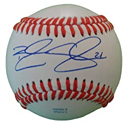 Brandon Snyder Autographed ROLB Baseball, Texas Rangers, Baltimore Orioles, Proof Photo