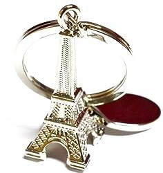 Glow Time Eiffel Tower Keychain - (8cmL x 6cmB, Silver)