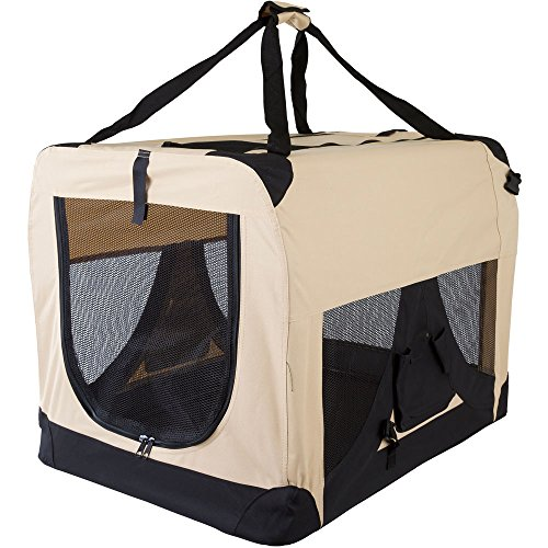 3X-Large Beige Soft Side Pet Travel Carrier 38.5″ x 27″ x 26.75″