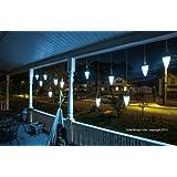 Hanging Solar Garden Light - Nine (9) Cornet Shaped Solar Lights, Solar Tree Lighting - Three Sets of 3 Each (9 Total) Lights
