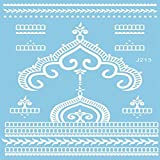 VIESN Tattoo Aufkleber Temporäre Körperkunst Entfernbare Muster Sticker für Ihre Körper Weiß Schwarz Design 4 (Mode15)