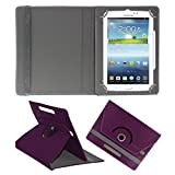 ACM ROTATING 360° LEATHER FLIP CASE FOR SAMSUNG GALAXY TAB 3 T211 P3200 P3210 TABLET STAND COVER HOLDER PURPLE