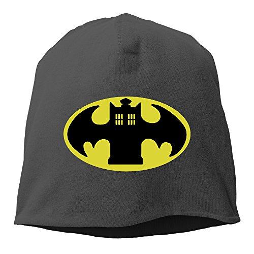 [XiaoLiXun Police Batman Logo Winter Knit Cap Woolen Hat Cap For Unisex Black] (Cheap Police Hats)