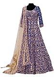 Prenea Women's Red Bridal Unstitched Anarkali Suit