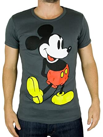logoshirt gris disney mickey mouse t shirt homme v tements et accessoires. Black Bedroom Furniture Sets. Home Design Ideas