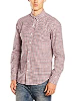 Timberland Camisa Hombre Ls Poplin Check Shir (Rojo)