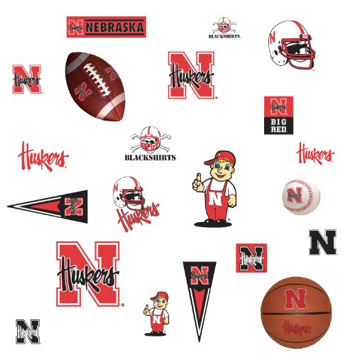 Roommates Rmk1101Scs University Of Nebraska Peel & Stick Wall Decals front-1022737