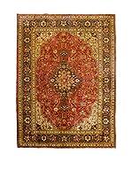 QURAMA Alfombra Persian Tabriz Rojo/Multicolor 298 x 197 cm