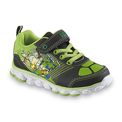Nickelodeon Boy's Teenage Mutant Ninja Turtles Shoe, Green/black Light-up