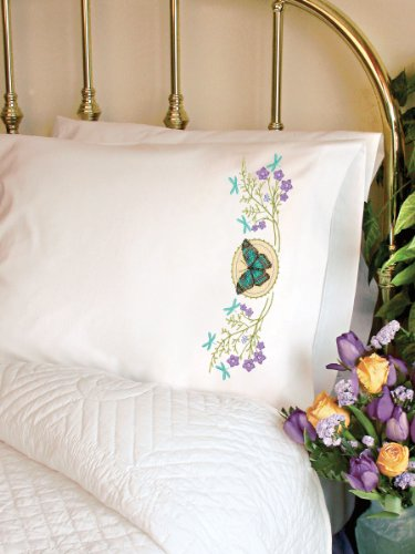Dimensions 72-73888 Butterfly Meadow Pillow Case, Stamped Cross Stich front-383420