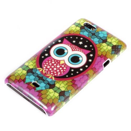 deinPhone Sony Xperia Miro ST23i HARDCASE Hülle Case Mosaik Eule Große Augen