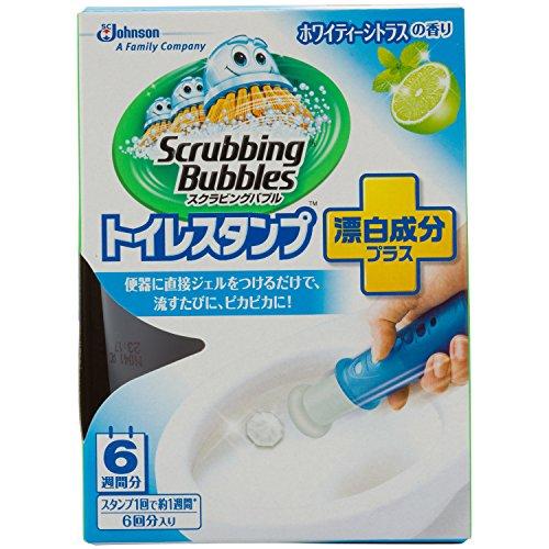 スクラビングバブル トイレスタンプクリーナー漂白成分プラス ホワイティ―シトラスの香り 本体 38g 【トイレクリーナー】