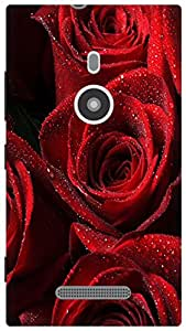 The Racoon Lean Red Rose hard plastic printed back case for Nokia Lumia 925