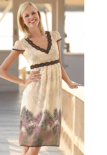Buy BOSTON DESIGN STUDIO<br />Botanical Border Print Dress