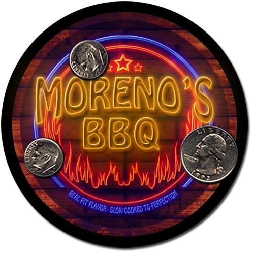 Moreno'S Barbeque Drink Coasters - 4 Pack