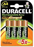 Duracell - Pile Rechargeable - AA x 4 - Stay Charged (LR6)