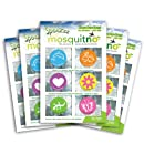 Mosquitno 5-Pack Natural Mosquito Repellent Spotz Stickers, Bunny/Gecko/Heart/Sun/Dolphin/Butterfly