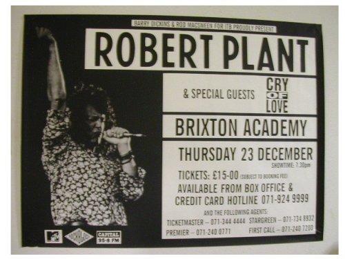 Robert Plant Poster Eurpoean Tour Led Zeppelin