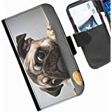 Hairyworm - Funny Sony Xperia M (C1904/C1905, C2004/C2005) leather side flip wallet phone case, cover